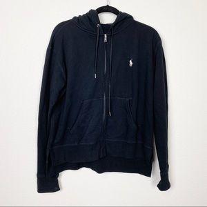 Polo Ralph Lauren Black Full Zip Hoodie Sweater